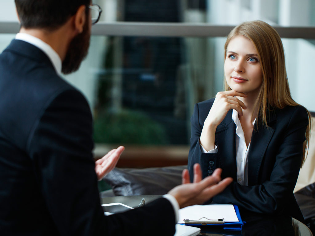 Man and a Woman during a Business Interview