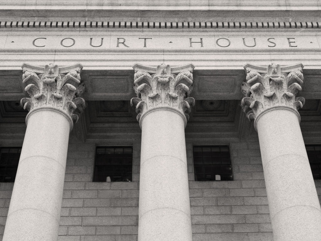 Close up of Courthouse building